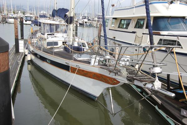 CT  CT 65 / Scorpio 72 ketch Lying downtown on the F Dock turning basin Sausalito Yacht Harbor