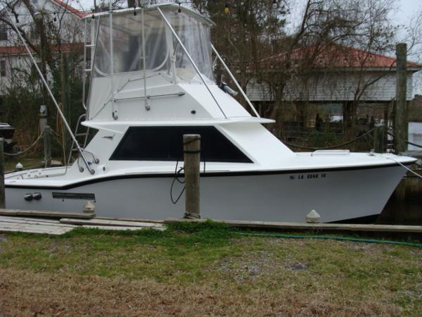 Hatteras Sportfish At Dock