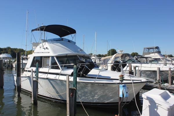 Bertram 33 Flybridge Cruiser Starboard side
