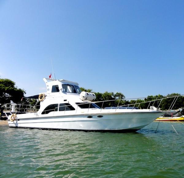 Custom Flybridge Cruiser 46 ft Fiberglass Cruiser / 14 meter Kapal Mancing