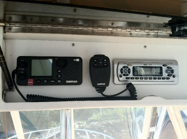 New Simrad VHF & Clarion stereo