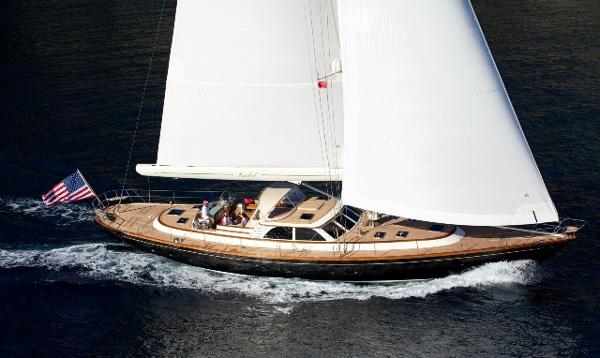 Friendship Yachts Modern Classic Sloop Under Sail