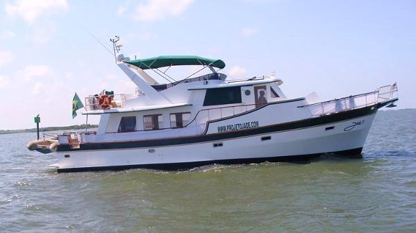 Custom Trawler 50 50' Trawler starboard profile
