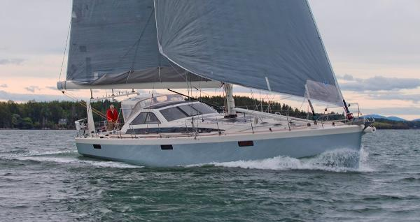 Lyman-Morse Farr 63 Racer/Cruiser Underway