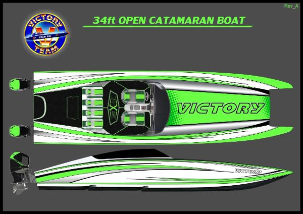 Performance Catamarans Victory Boats 34 Open Cat