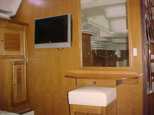 LCD flat screen TV is standard in the owner's stateroom
