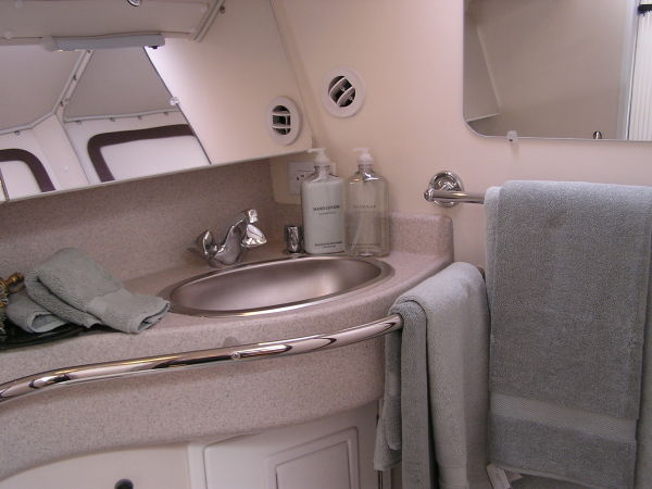Complete head compartments fore & aft with separate shower compartments