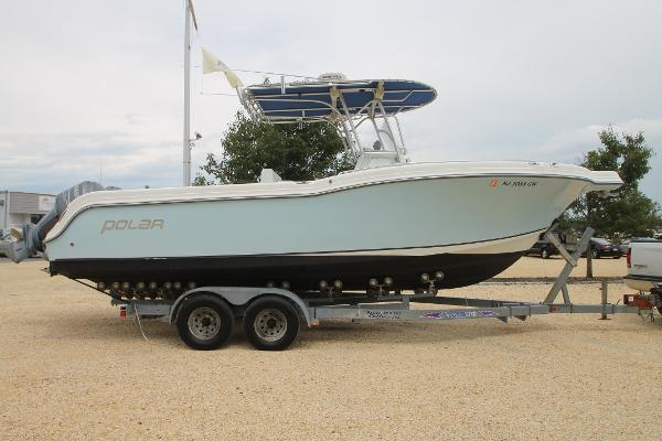 Polar Boats 2700 Center Console Stbd on trailer