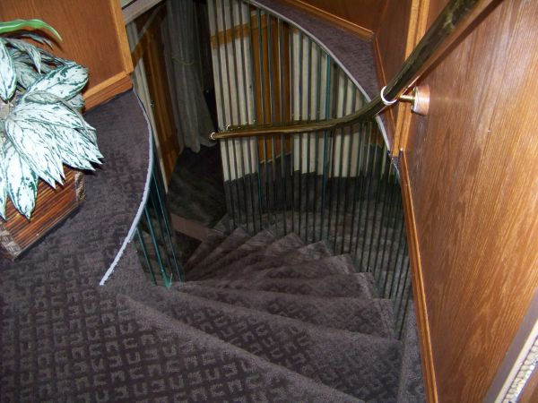stairs to forward stateroom