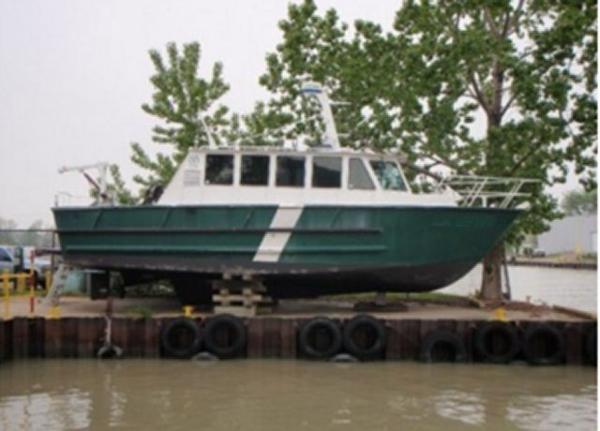 Kanter 1990 42' x 14' x 4' Aluminum Kanter Built Crew/Work/Dive/Patrol Boat
