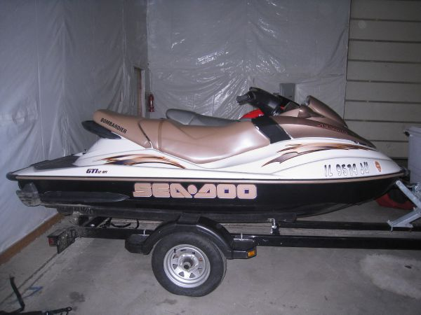 Sea Doo Jetski on trailer view 2