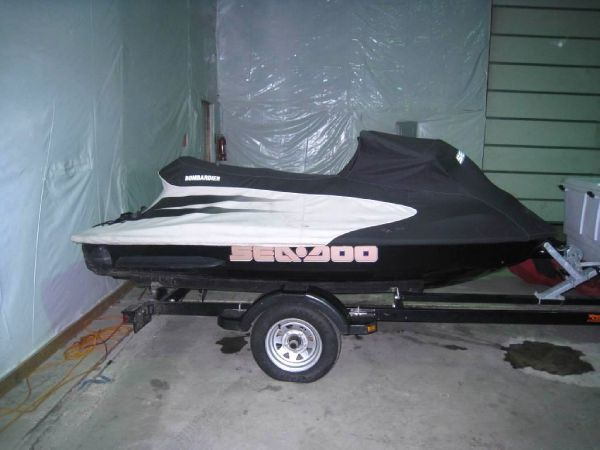 Sea Doo Jetski on trailer