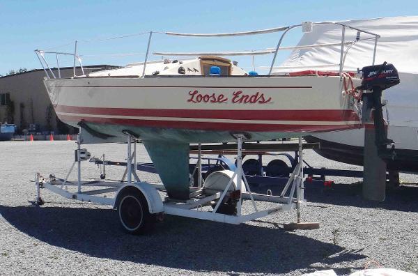 J Boats J/24 On Her Trailer