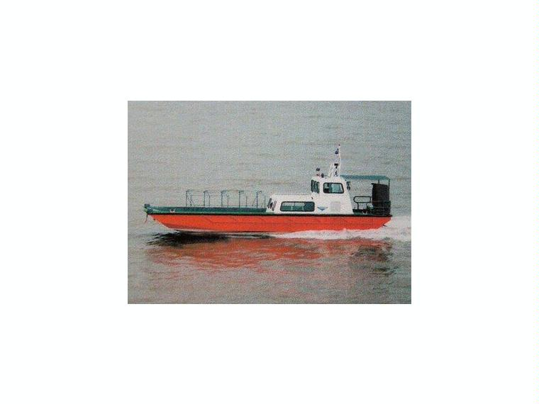 Alu-Transportschiff inklusive 2 Yamaha-Motoren