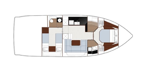 Sealine S450 Lower Deck Layout Plan