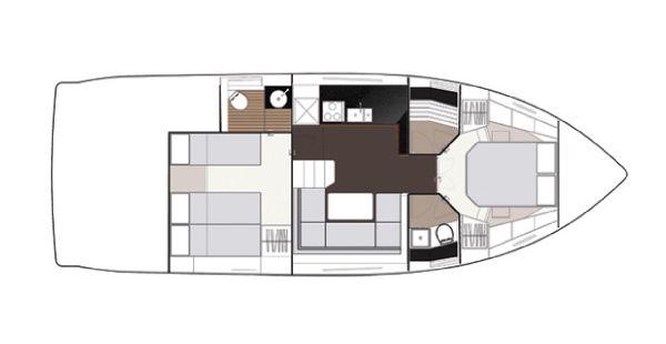 Sealine S450 Lower Deck Layout Plan