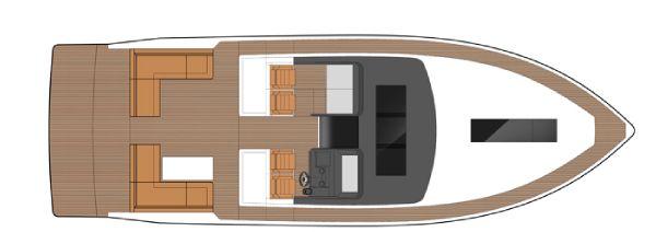 Sealine S450 Main Deck Layout Plan