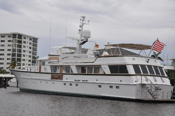 Feadship Raised Pilothouse Motor Yacht stern qtr taken 6/2017 cloudy day