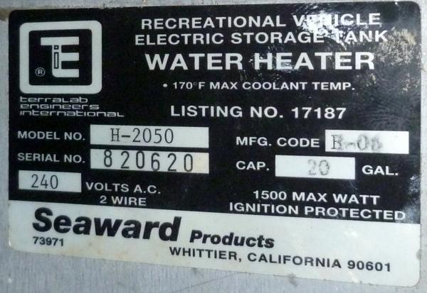 Water Heater Detail