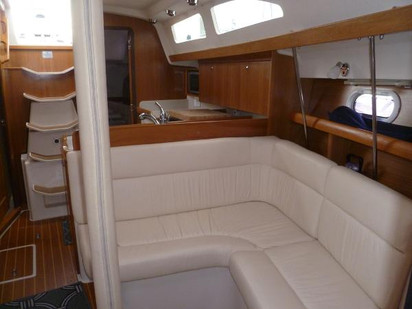 Port Settee in Salon Converts to Double Berth