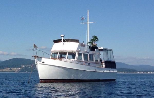 Grand Banks Heritage At Anchor
