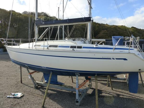 Bavaria 37 Ashore at Woolverstone, Suffolk