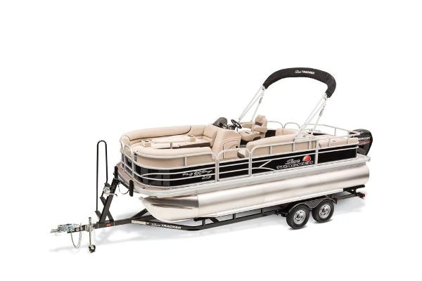Sun Tracker Party Barge 22 XP3 w/ 115 4Stroke and Custom Trailer