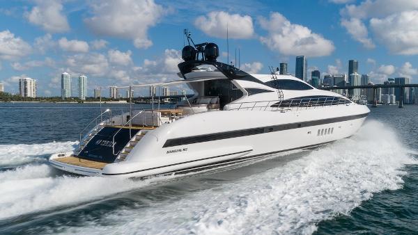 Mangusta Mediterranean Sport Yacht Starboard Stern Underway