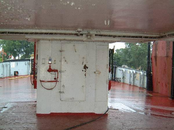 Below wheelhouse - deck level