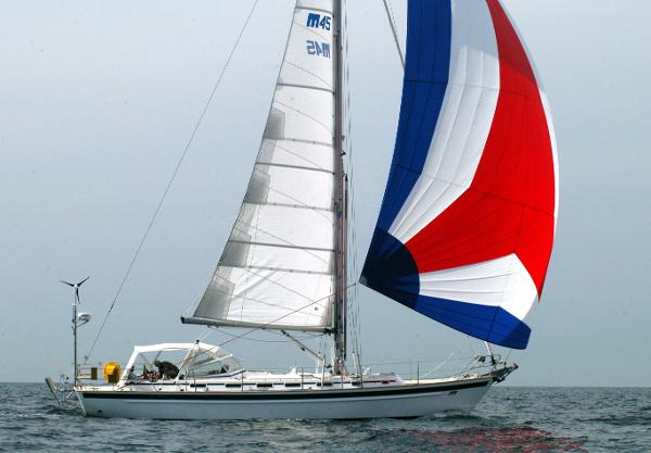 Malo 45 Classic SERENE flying her spinnaker