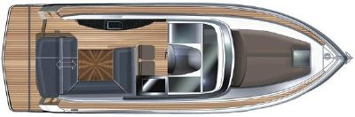 Focus Motor Yachts Power 36 Manufacturer Provided Image: Focus Power 36 Upper Deck Layout Plan