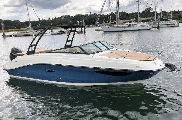 Sea Ray Sun Sport 230 Outboard Starboard Side - Afloat