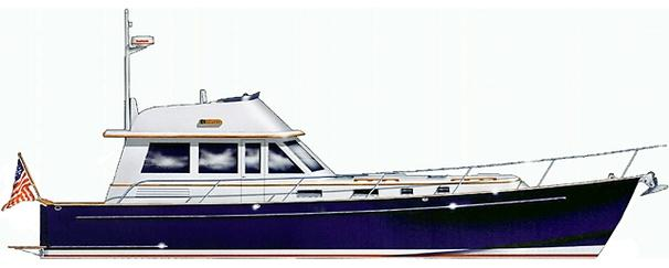 Legacy Yachts 52 Profile Drawing