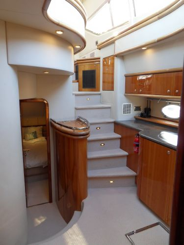 Galley to helm and saloon