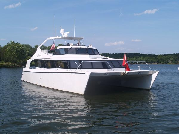 Pedigree Cat 52 Power Cat Starboard Quarter View