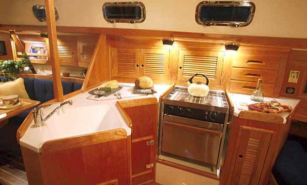 Tartan 3500 Manufacturer Provided Image: Galley