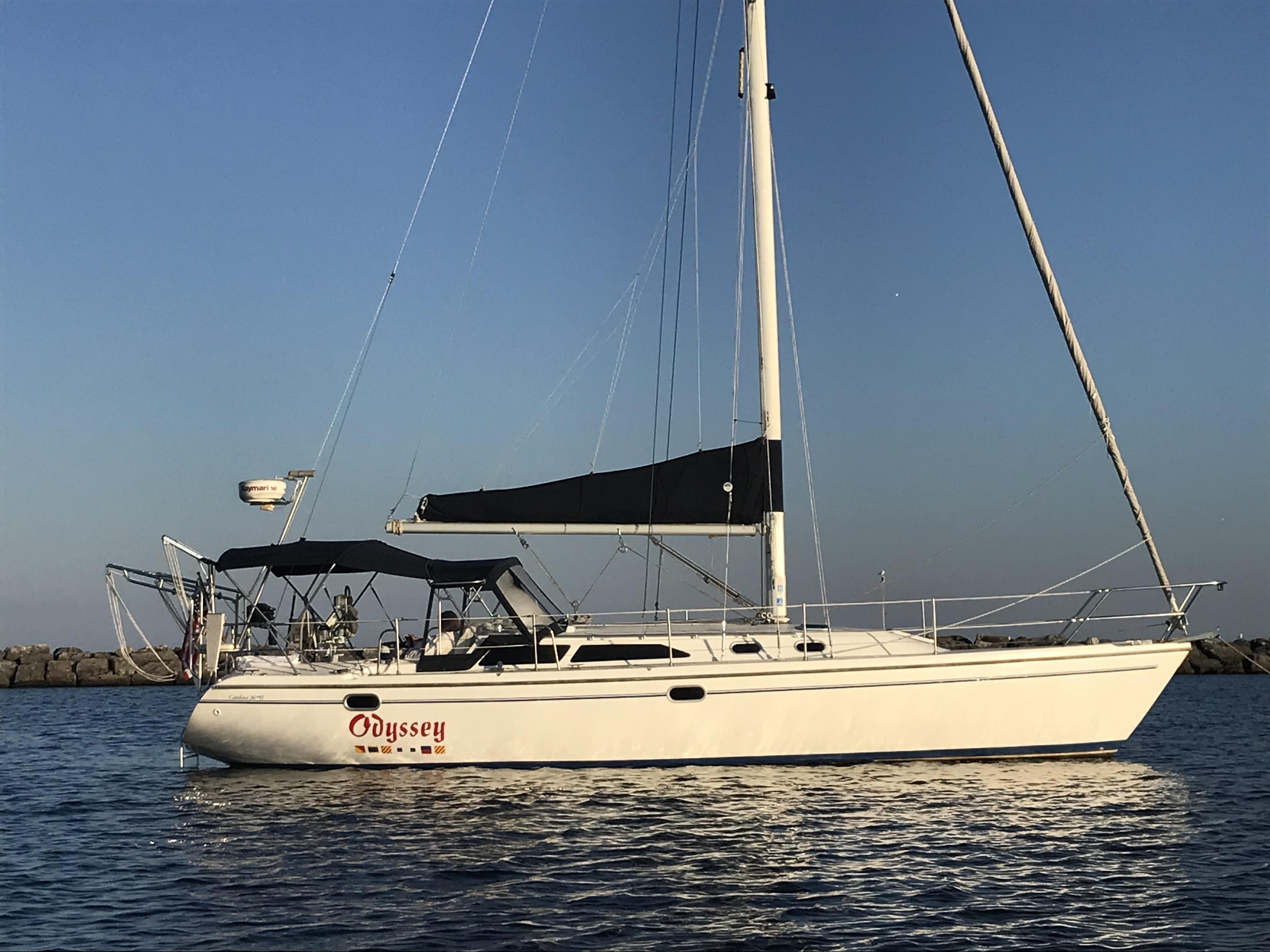 Catalina 36MKII Odyssey at anchor
