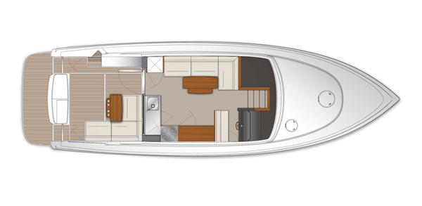 Maritimo C43 Sports Yacht Saloon Cockpit Layout Plan