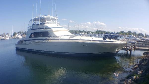 Bertram 60 Convertible At Dock