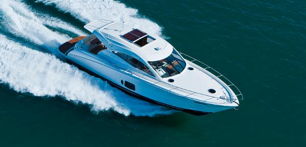 Maritimo C50 Sports Yacht Aerial View