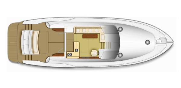 Maritimo C50 Sports Yacht Saloon/Cockpit Layout Plan