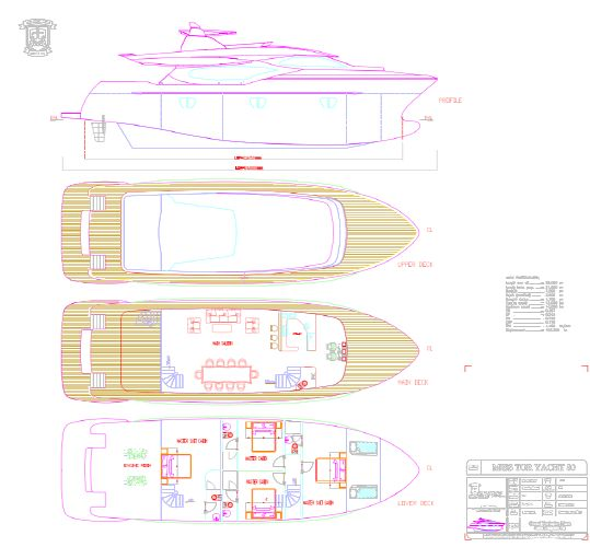 Miss Tor Yacht 80 Layout