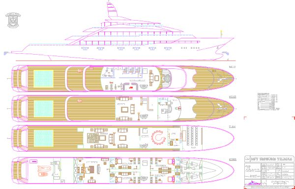 Miss Tor Yacht Custom 230 Layout