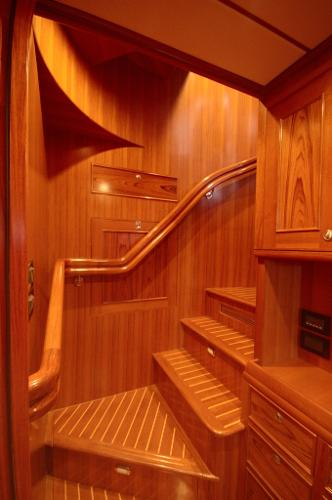 Stair well from the saloon to the Pilothouse