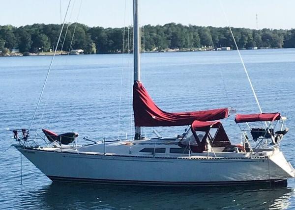 C&C 34 Sloop At Anchor