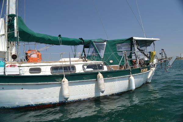 Closeup at anchor