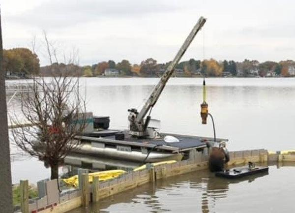 Commercial Work boat with crane & trailer