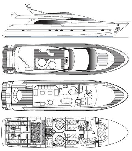 Astondoa 82 - Deck Plans