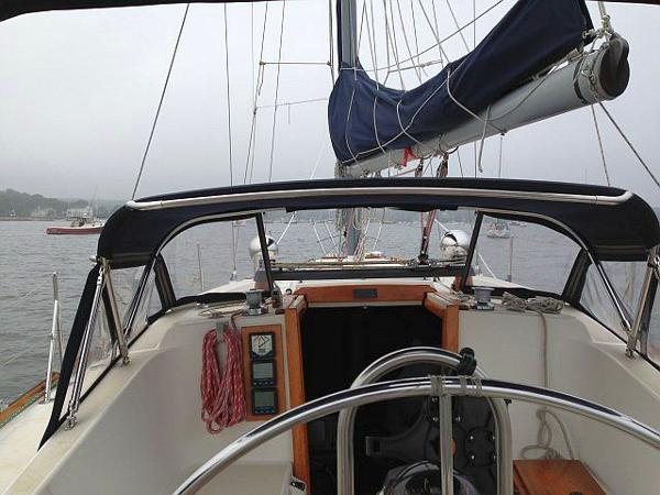 The view forward from the helm