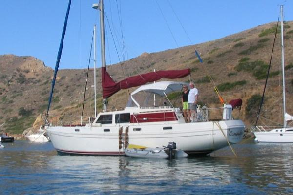 Columbia Yacht 45 Compadre at Anchor